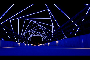 """High Trestle Trail Bridge @ Night"" by Phil Roeder"