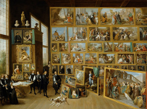 """Duke Leopold Wilhelm in his gallery in Brussels"" by David Teniers the Younger"